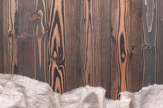 Tablecloth on wood Premium Photo