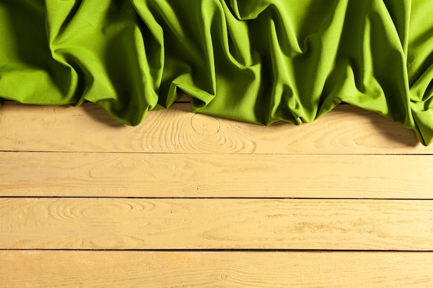 Tablecloth on wooden table Premium Photo