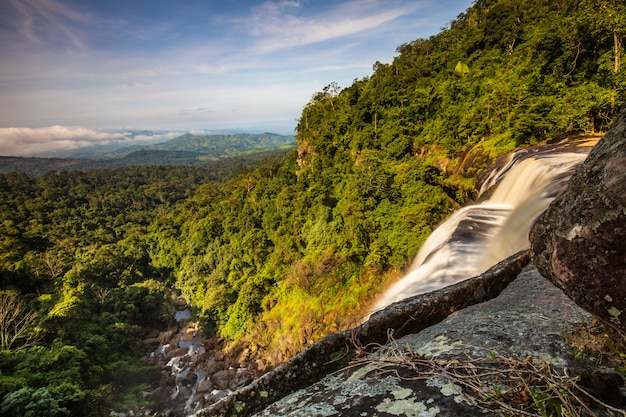 Tad-loei-nga waterfall. beautiful waterfall in loei province, thailand. Premium Photo
