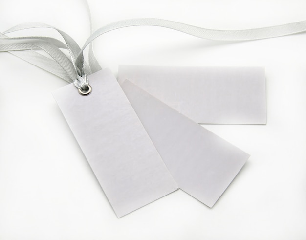 Tags with ties gray Premium Photo