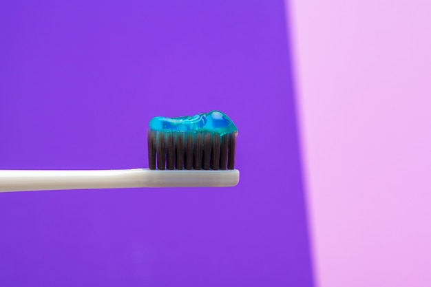 Taking care of teeth with tooth brush Premium Photo