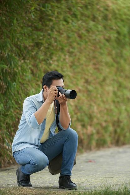 Taking photos of nature Free Photo