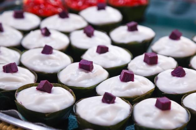 Tako is dessert of thailand, made of flour Premium Photo