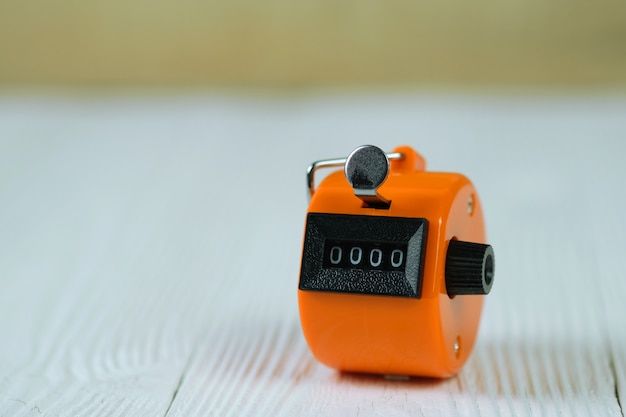 Tally counter or counting machine with 0000 number Premium Photo