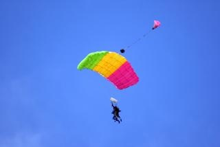 Tandem paracadutismo, parapendio Foto Gratuite