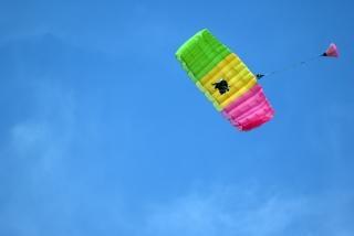 Tandem parachuting Free Photo