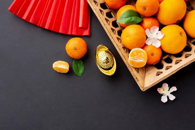 Tangerine basket chinese new year Free Photo