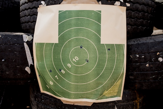 Target for shooting in a dash Premium Photo