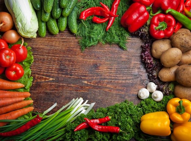 おいしい健康食品の野菜と果物 Premium写真