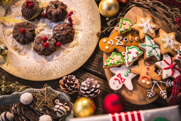 Tasty Christmas Cookies With Different Shapes Photo Free Download