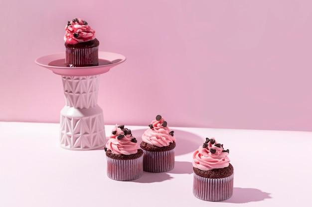 チョコチップとおいしいカップケーキ 無料写真