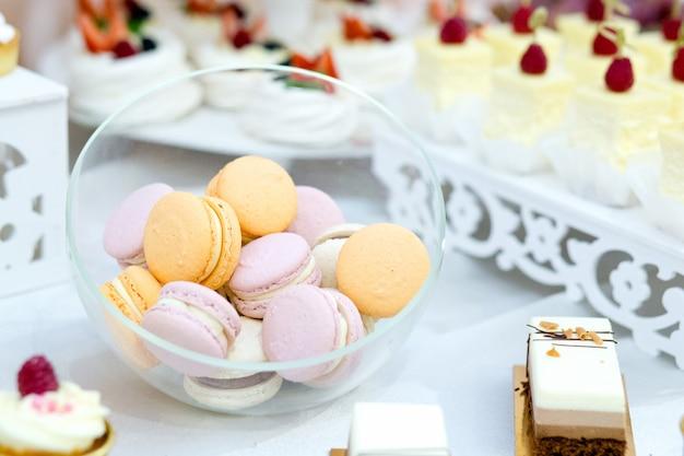 Premium Photo Tasty Desert Sweet Macarons On Wedding Close Up
