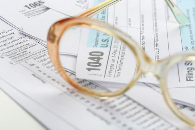 Tax forms, close up Premium Photo