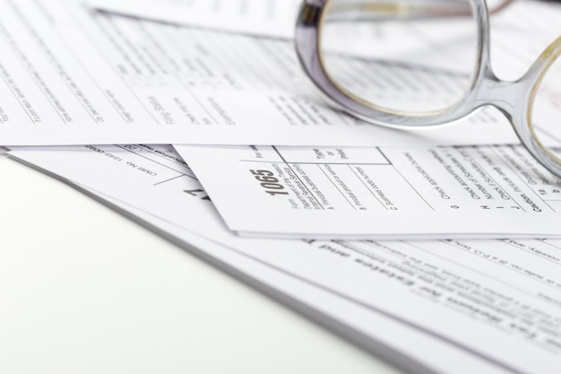 Tax forms, close up Premium Photo