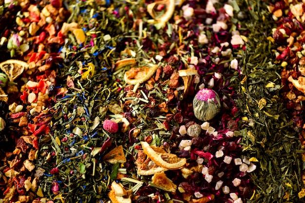 Tea Background Green Black Floral Herbal Mint Melissa Ginger