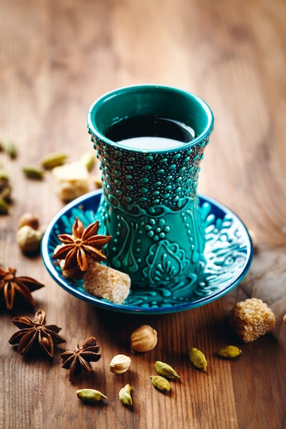 Tea or different drink with spices Premium Photo