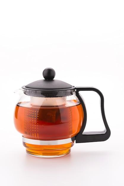 Tea pot isolated on white background Free Photo