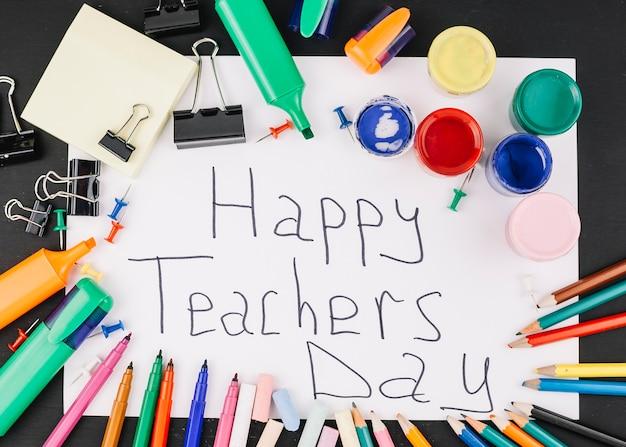 Teacher day greeting Free Photo