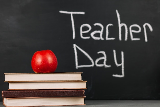 Teacher day inscription Free Photo