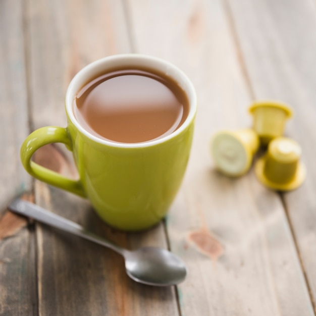 Teacup with spoon Free Photo