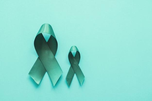 Premium Photo Teal Ribbons Ovarian Cancer Cervical Cancer