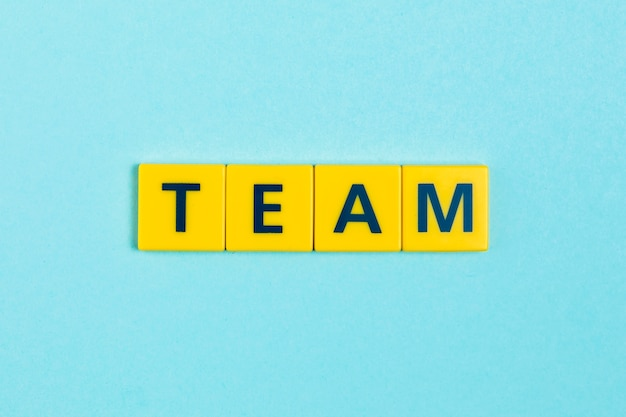 Team word on scrabble tiles Free Photo
