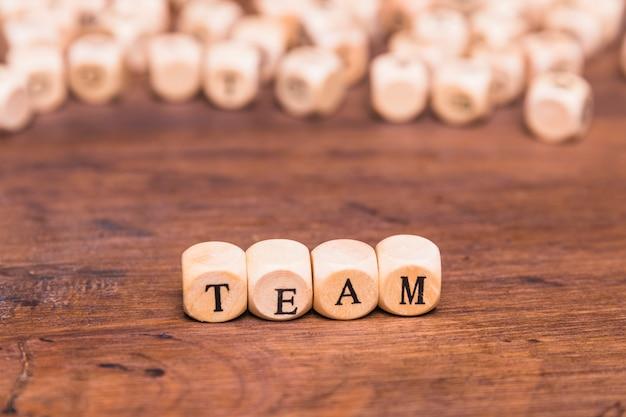 Team word written on wooden blocks Free Photo
