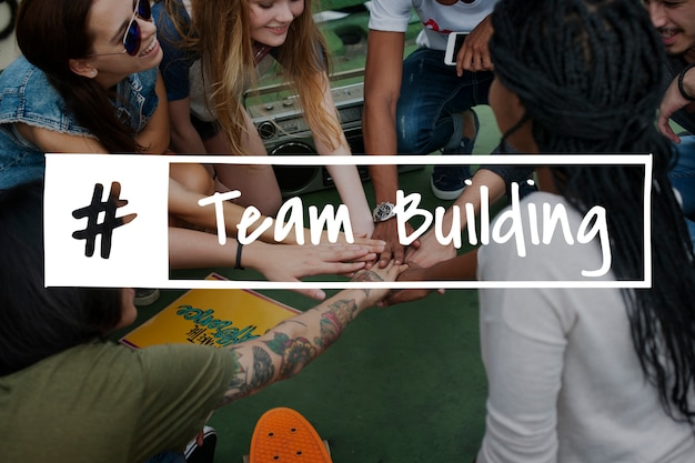 Teamwork collaboration team graphic word Free Photo