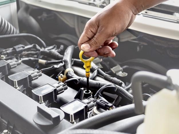 Technician work in car auto service Premium Photo