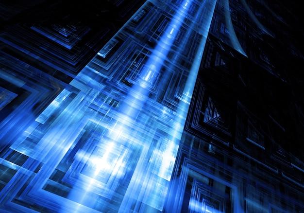 Technologic blue background Free Photo