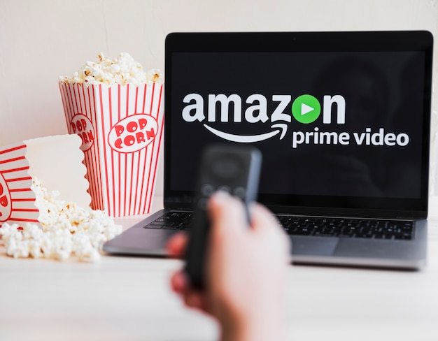 Technological device with amazon prime video app Free Photo