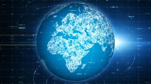 Данные по сети технологии и социальное соединение значков средств массовой информации, цифровая сеть и концепция безопасностью кибер. Premium Фотографии