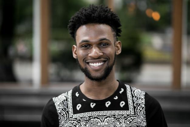 Technology shirt mode black person male Free Photo
