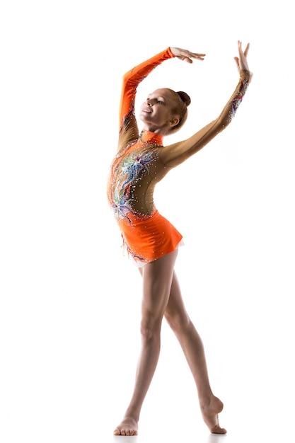 Teenage ballerina girl dancing Free Photo