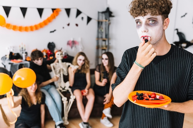 Teen boy halloween party