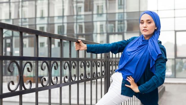 Teenager girl with hijab posing Free Photo