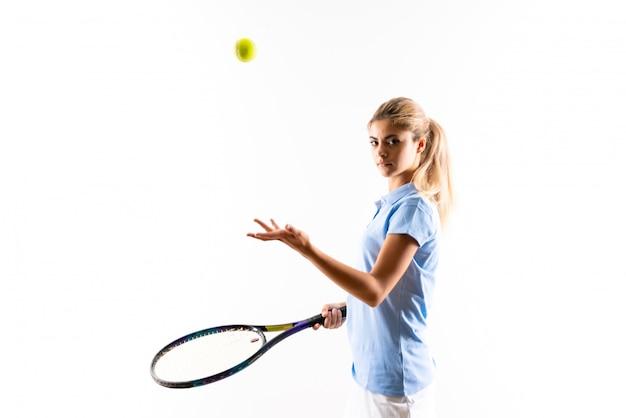Teenager tennis player girl Premium Photo