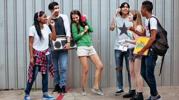 Teenagers lifestyle casual culture youth style concept Premium Photo