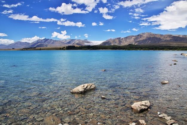 Tekapo lake in south island, new zealand Premium Photo