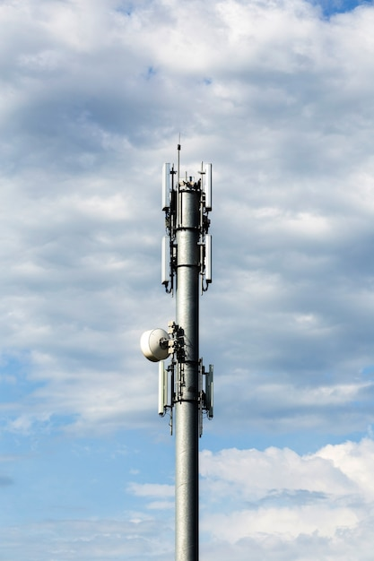 Telecommunication tower view Free Photo