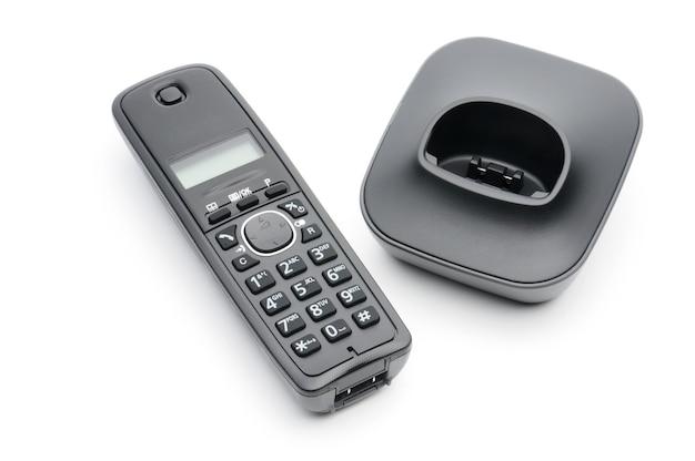 白の都市および長距離回線への通話用の電話の受話器 Premium写真