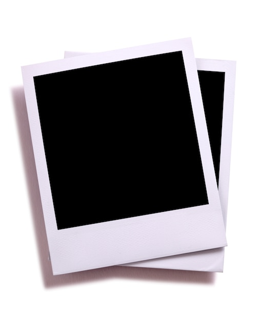 Template Of Two Polaroid Photos Photo