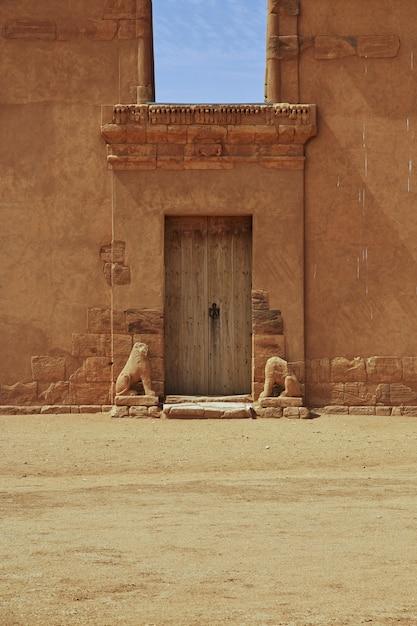 The temple of amun in the desert of the sudan Premium Photo