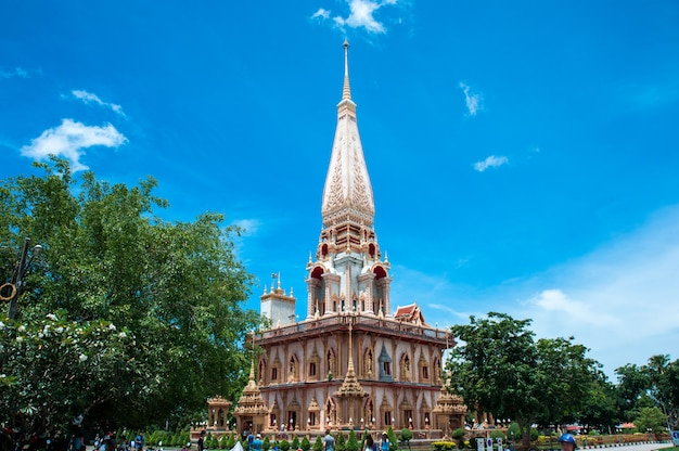 The temple complex of wat chalong in phuket, thailand Premium Photo