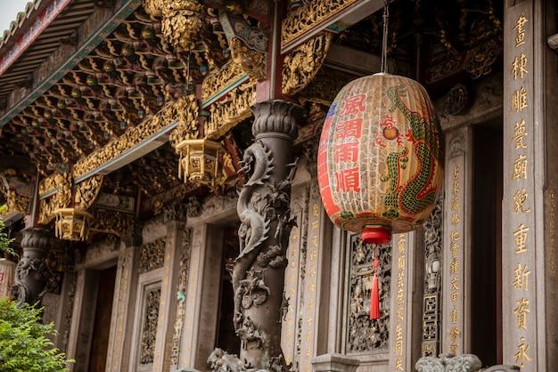 The temple of longshan in downtown taipei in taiwan Premium Photo