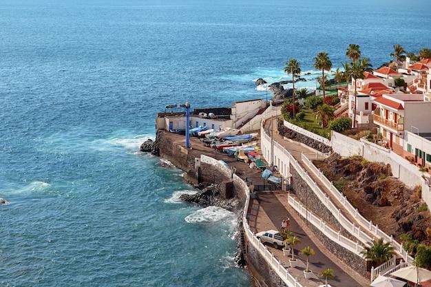Tenerife island aerial view in summer day. Premium Photo
