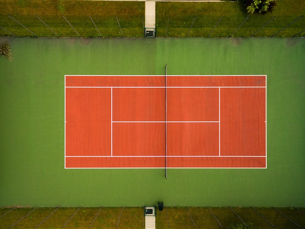 Tennis court seen from the air Free Photo