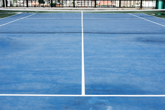 Tennis court sport match play game concept Free Photo