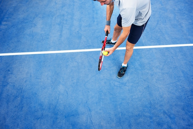 Tennis sport racket racquet athlete match concept Premium Photo
