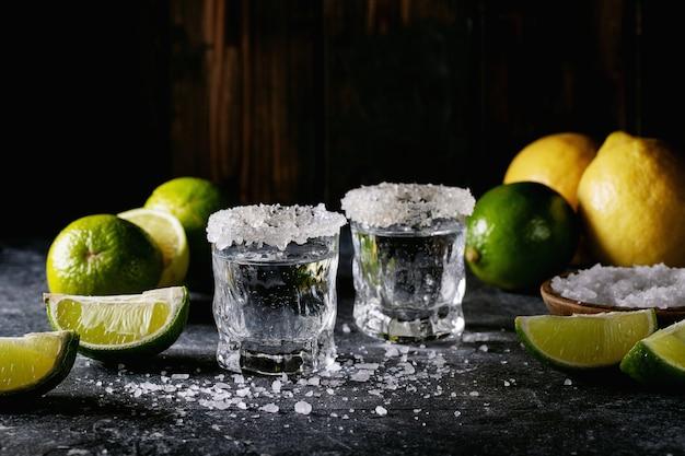 Tequila in a glass Premium Photo